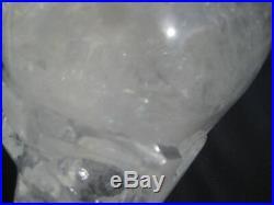 13.7cm Naturel Cristal de Quartz Crane Sculpture Minérale Pierre Statue Art A26