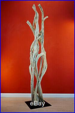 200 CM Sculpture Liane Décoration Bois Art Flottant Schwemmholz Nature Tropical