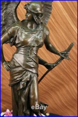 37 Ouest Art Sculpture Bronze Marbre Angell Warrior Victoire Statue Fonte