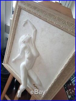 3D 4D Handmade Sculpture Peinture Image Cadre Femme Mural Art Statue