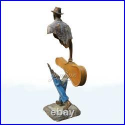 57.5cm Modern Art Bronze Traveler Sculpture Of Bruno Catalano Home Decor Crafts
