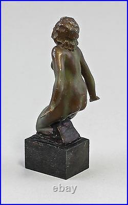 99838037 Sculpture Féminin Nu Zinkspritzguss Art Nouveau Um 1900