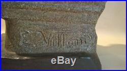 ART NOUVEAU Emmanuel VILLANIS MAGNIFIQUE métal polychrome état EXCEPTIONNEL