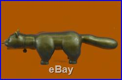 Abstrait Art Moderne Chubby Chat Par Botero Bronze Sculpture Maison Bureau Décor