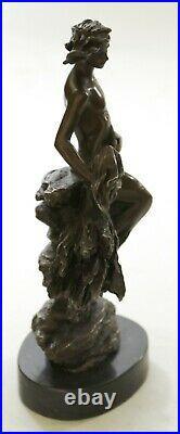 Abstrait Art Moderne Mi Siècle Chair Homme En Air Real Bronze Sculpture Statue