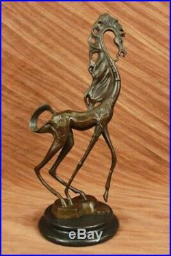 Abstrait Art Moderne Salvador Dali Cheval Fonte Bronze Sculpture Marbre Statue