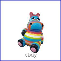 Abstrait Design Art Neuf Figurine Statue Coloré Bemante Sculptures Hippopotame