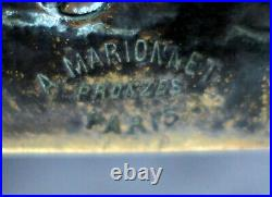 Albert Marionnet Sculpture Bronze Vide Poche Cendrier Aux Colombes Art Nouveau