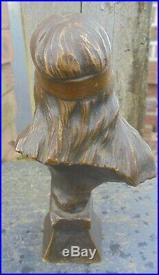 Ancien Bronze Art Nouveau Emmanuel Villanis Bohémienne