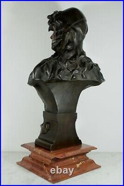 Ancien Bronze Signé Anton Nelson Cachet Fondeur H. Luppens & Cie Art Nouveau