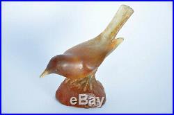 Ancien oiseau Pâte de verre Amalric Walter Art Nouveau Jugendstil Bird sculpture
