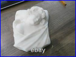 Ancienne sculpture statue art nouveau en albatre signée Giorgi