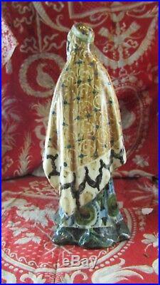 Ancienne statue sculpture art nouveau porcelaine peinte ALOYS orientaliste 1900