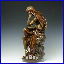 André J. Allar Muse le Kontemplation Bronzeguss Susse Frères Paris Art Nouveau