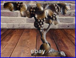 Antique Sculpture fait Main période Art Nouveau Vigne Grappe Raisin Vintage G