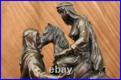 Arabe Sur Cheval Par Barye-Commanding Bronze Sculpture 15.9kg Figurine Art Décor