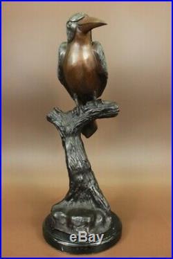 Art Déco Collectionneur Numérotée Édition Colibri Oiseau Bronze Sculpture Statue