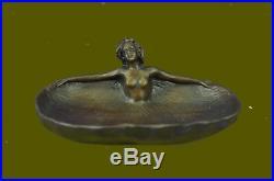 Art Déco Érotique par Rubin Bijoux Pièce Support Bronze Sculpture Statue Solde