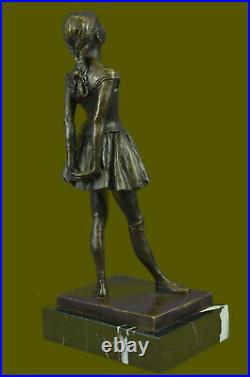 Art Déco Nouveau Ballerine Danseuse Bronze Sculpture Figurine Par Degas Artwork