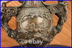Art Déco / Nouveau Fonte Ange Bébé Enfant 100% Bronze Urne Sculpture Décor Deal