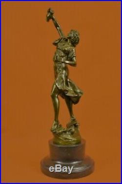 Art Déco Nouveau Fonte Bacchus Déesse de Vin Bronze Sculpture Figurine Solde