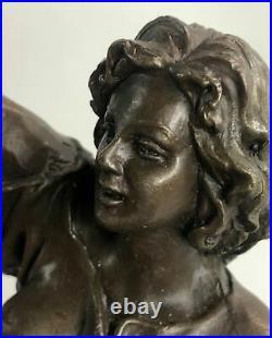 Art Déco Nouveau Fonte Bacchus Goddess of Vin Bronze Sculpture Figurine SOLDÉ