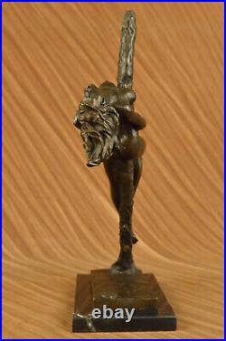 Art Déco / Nouveau Spéciale Patine Classique Chair Dame Bronze Sculpture Cast