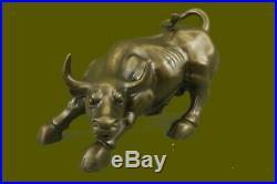 Art Déco Original Stock Market Taureau Bronze Sculpture Mural Street Figurine