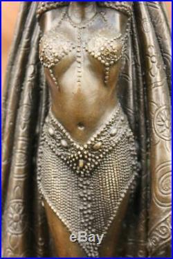 Art Déco Ventre Danseuse par Chiparus Bronze Sculpture Signe Style Nouveau Lrg