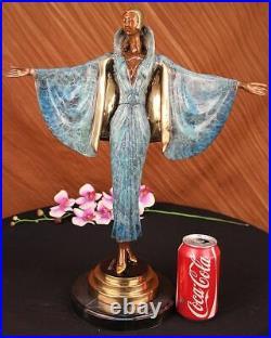 Art Nouveau Bronze Julius Erté Mode Runaway Modèle Bronze Sculpture Statue Nr