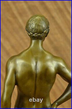 Art Nouveau Chair Mâle Homme Musée Qualité Bronze Massif Sculpture Figurine