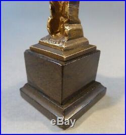 Art Nouveau Miniature Figure de Bronze Femme Buste Sculpture Belle Epoque 13 cm