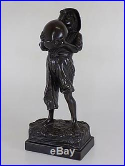 Art Nouveau WMF Galvanoplastik Bronze Jeune Garçon Figurine Sculpture 20 Sameer