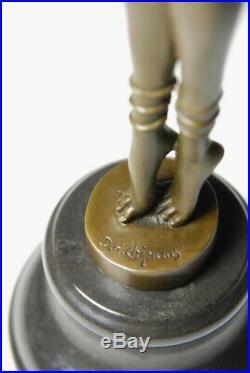 Art Nouveau signée Demeter Chiparus, Sculpture- Bronze d'art Envoi gratuit
