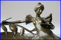 Art Nouveau très belle sculpture en bronze signée Milo envoi gratuit
