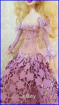 Art Poupée Violet Robe Unique Sculpture Fantaisie Princesse Fairy 50.8cm