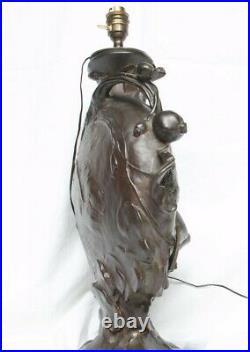 Art nouveau Vase de Jules Jouant (French 1882-1921) monté en lampe