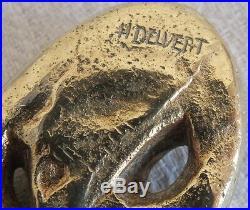Art nouveau bronze doré signé Delvert