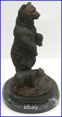 Artisanal Bronze Sculpture Solde Déco Art Ours Vienna Grand Fonte Figurine