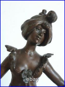 Auguste MOREAU La pensée sculpture régule femme 1900 Art Nouveau