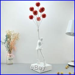 Banksy Flying Balloon Girl Red Art Sculpture résine artisanat décoration maison