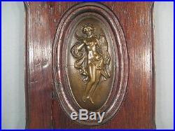 Bas Relief Ancien Art Nouveau/ Plaque Décorative Art Nouveau Les Quatre Saisons