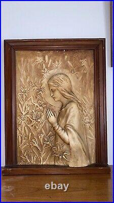 Bas- Relief Art Nouveau Vierge Marie De Paul Gonzales & Carli Marseille