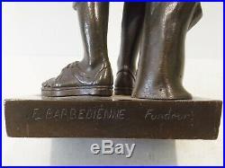 Belle Diane De Gabies Bronze Sculpture F. Barbedienne. Fondeur. Avec Marque