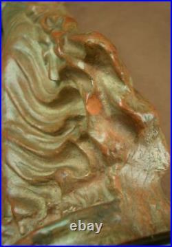 Belle Sculpture En Terre Cuite Femme Danseuse Tanagra Art Nouveau Signée