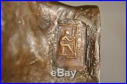 Bronze Ancien Art Nouveau Signe Par Antonin Injalbert Antique Sculpture