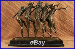 Bronze Art Déco Nouveau Sculpture Chiparus Large Marbre Base Décor Maison