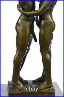 Bronze Art Sculpture Érotique Mâle Chair Hommes Statue Gay Intérêt Figurine