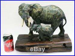 Bronze Art Sculptures Sénégal Éléphant par Français Artiste Barye Lost Cire