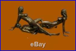 Bronze Chair Femme & Homme Sculpture Érotique Abstrait Art Sexuelle Nue Figurine
